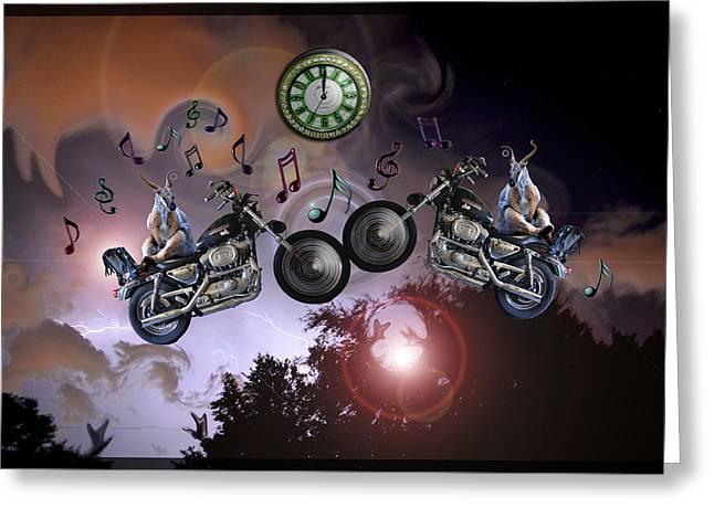 Midnight Rider Greeting Card by Amanda Vouglas