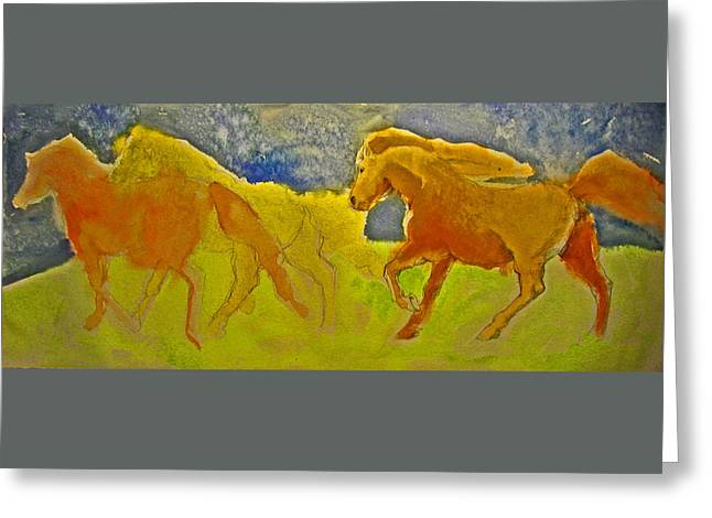 Midnight Run Greeting Card by Linda Kay Thomas