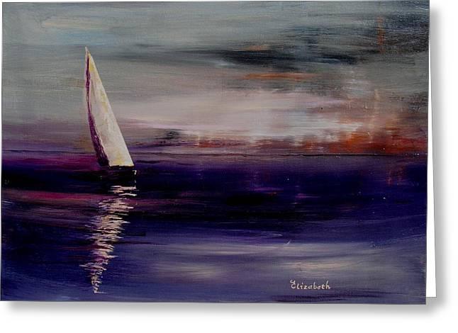 Midnight Sail Greeting Card by Beth Maddox