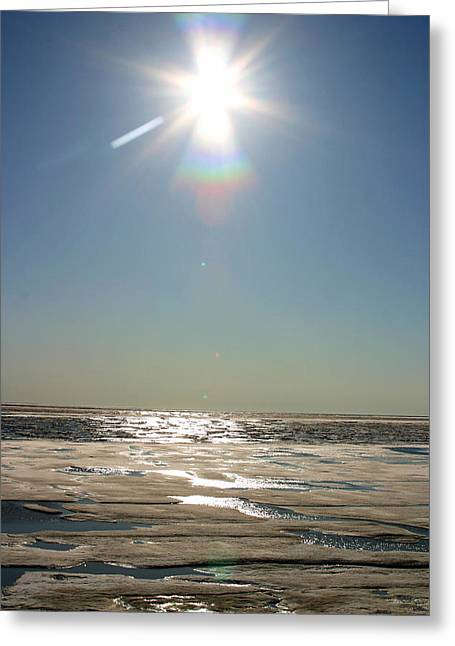 Midnight Sun Over The Arctic Greeting Card