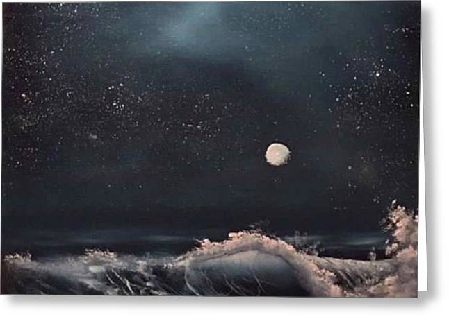 Midnight Surf  Greeting Card