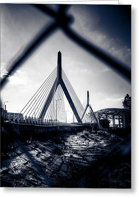 Midnight Zakim Greeting Card by Andrew Kubica