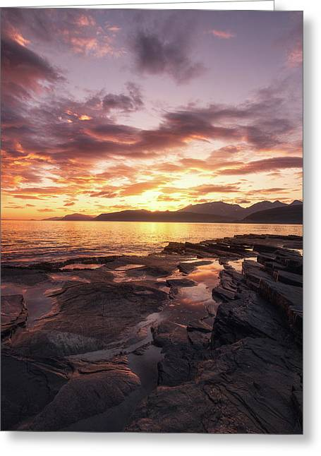 Midnightsun Madness Greeting Card by Tor-Ivar Naess