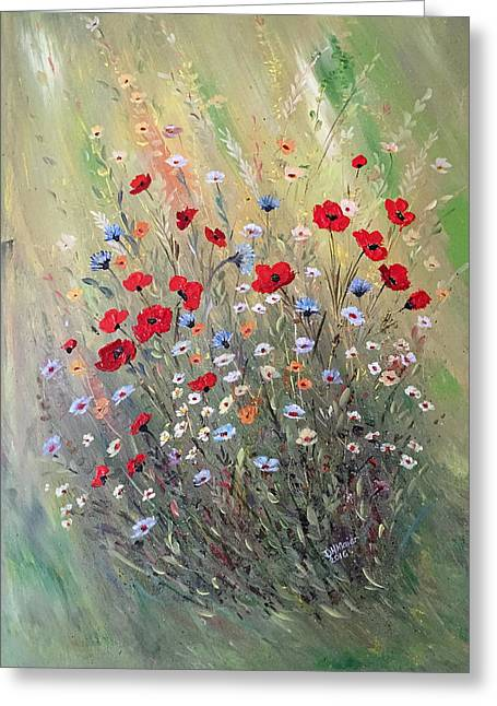 Midsummer Poppies Greeting Card