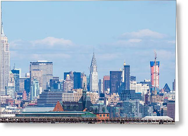Midtown Manhattan Skyline Greeting Card by Erin Cadigan