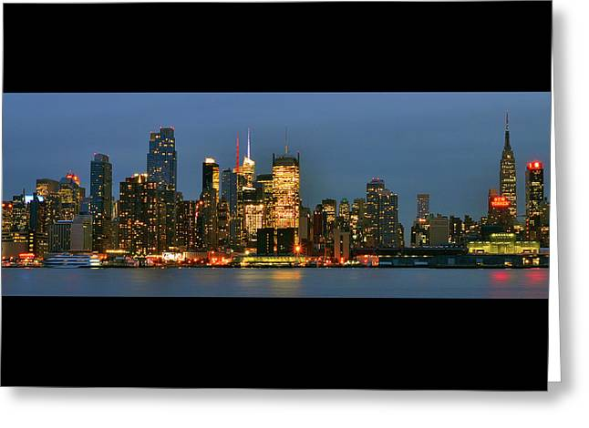 Greeting Card featuring the photograph Midtown Manhattan by Zawhaus Photography