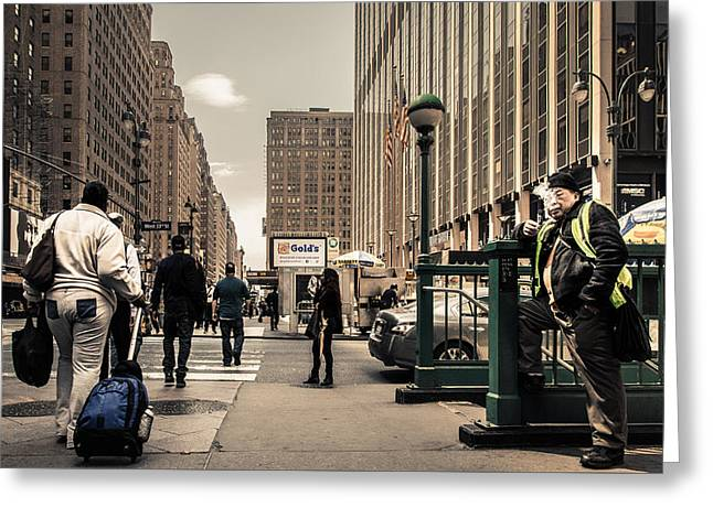 Midtown, Nyc Greeting Card by Phillip Schafer