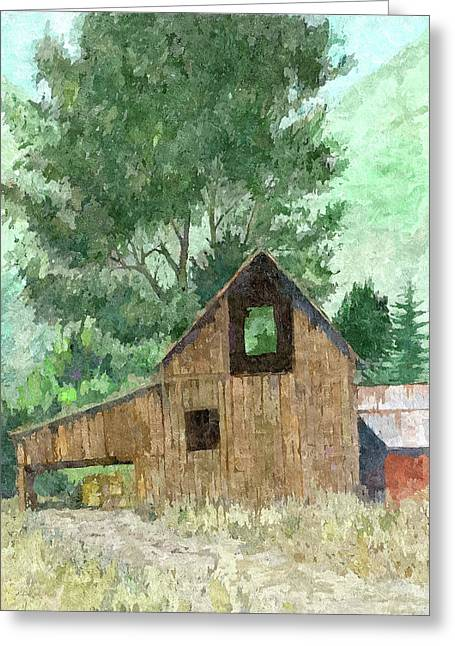 Midway Barn Dop Greeting Card