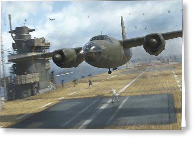 Midway Marauder - Painterly Greeting Card by Robert Perry