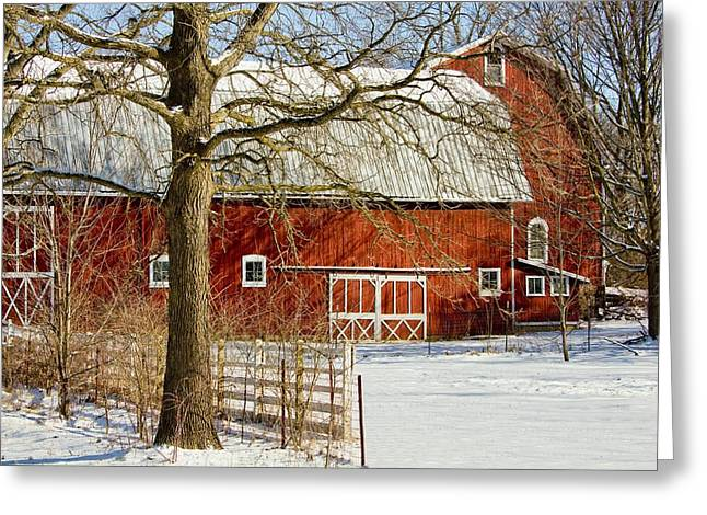 Midwest Barn Greeting Card by Pat Cook