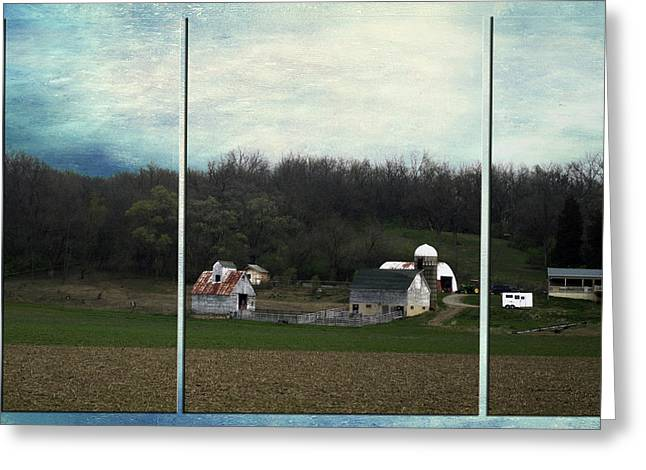 Midwest Country Living Triptych 3 Panel 01 Greeting Card by Thomas Woolworth