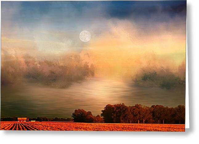 Midwest Harvest Moon Greeting Card
