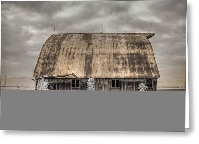Midwestern Barn Greeting Card by Jane Linders