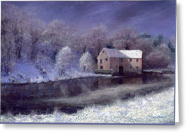 Midwinter At The Mill Greeting Card