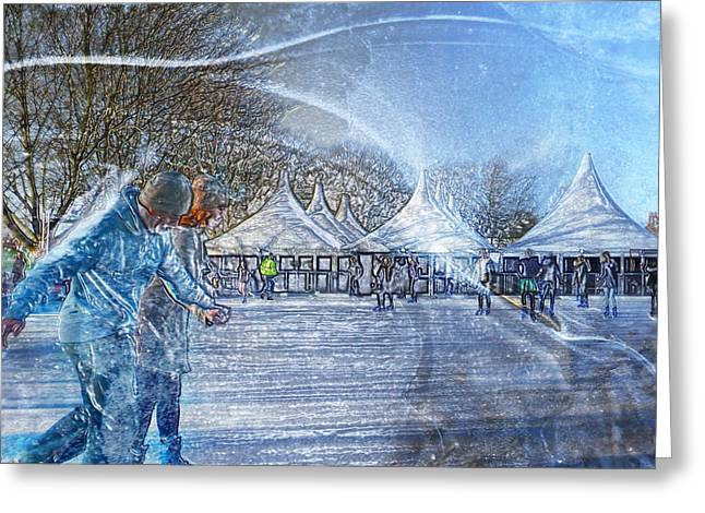 Midwinter Blues Greeting Card
