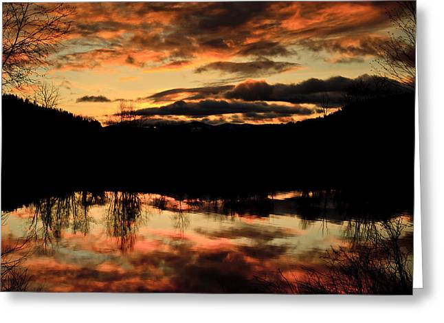 Midwinter Sunrise Greeting Card