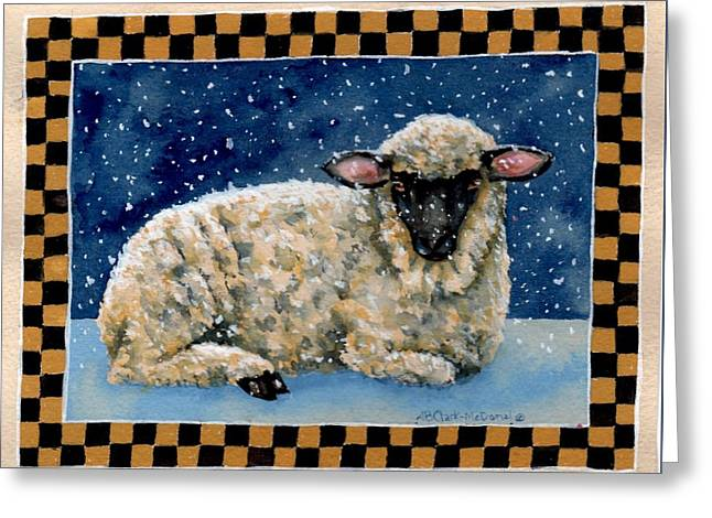 Midwinter's Sheep Greeting Card by Beth Clark-McDonal