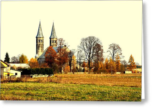 Miedzierza Church Greeting Card by Henryk Gorecki