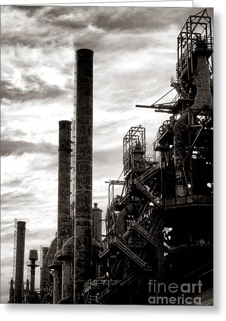 Mighty Bethlehem Steel Greeting Card