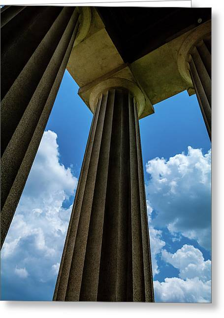Mighty Columns  Greeting Card