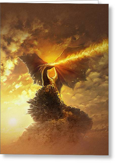 Mighty Dragon Greeting Card