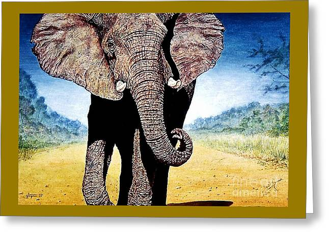 Mighty Elephant Greeting Card