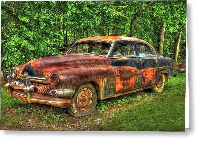 Mighty Mercury 1951 4 Door Sedan Greeting Card