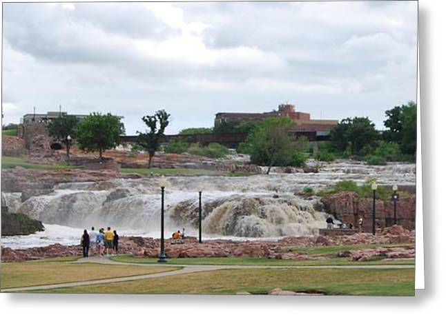 Mighty Sioux Falls Greeting Card by Judy Hall-Folde
