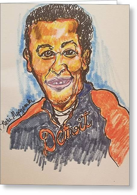 Miguel Cabrera Greeting Card by Geraldine Myszenski