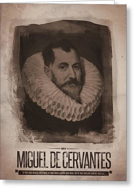 Miguel De Cervantes Greeting Card by Afterdarkness