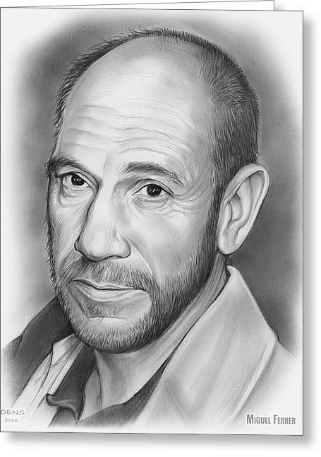 Miguel Jose Ferrer Greeting Card