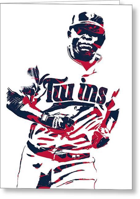 Miguel Sano Minnesota Twins Pixel Art 3 Greeting Card