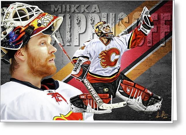 Miikka Kiprusoff Greeting Card