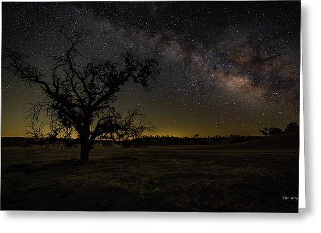 Greeting Card featuring the photograph Miily Way In A Late Spring Sky by Tim Bryan
