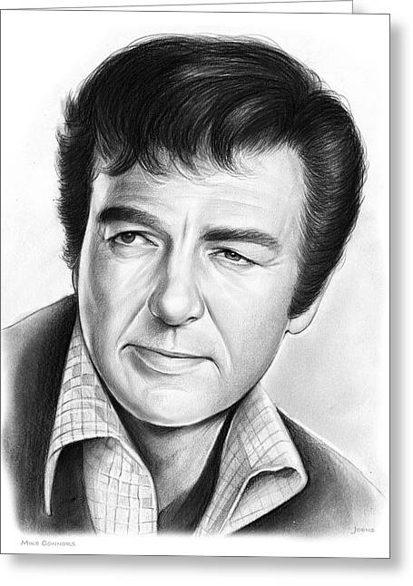 Mike Connors Greeting Card by Greg Joens