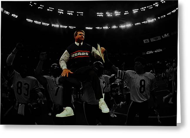 Mike Ditka Greeting Card by Brian Reaves