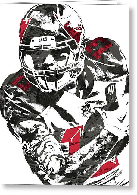 Mike Evans Tampa Bay Buccaneers Pixel Art Greeting Card