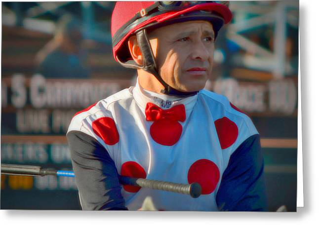 Mike Smith- Horse Jockey Greeting Card by See My  Photos