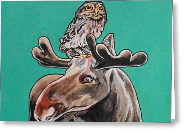 Mike The Moose Greeting Card