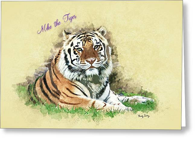 Mike The Tiger Greeting Card by Mindy Guidry