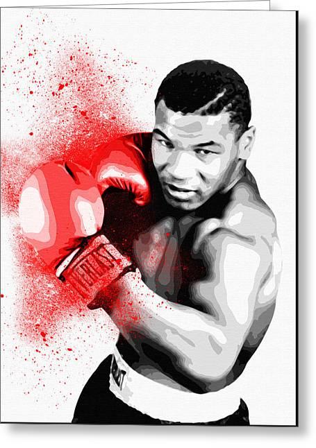 Mike Tyson - By Diana Van Greeting Card by Diana Van