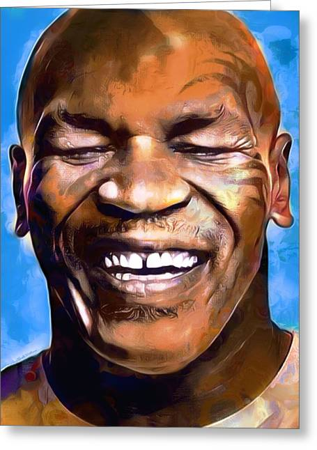 Mike Tyson Painting  Greeting Card by Scott Wallace
