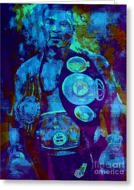 Mike Tyson Pop Art Pur Greeting Card