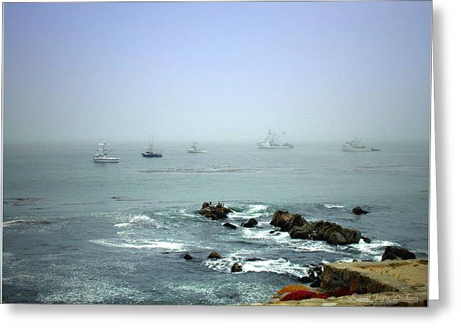Mike's Seascape Greeting Card by Joyce Dickens