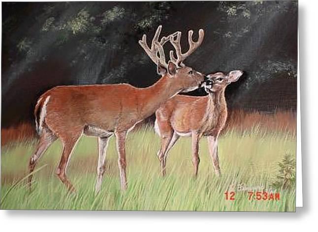 Mikeys Deer Greeting Card by Terri Kilpatrick