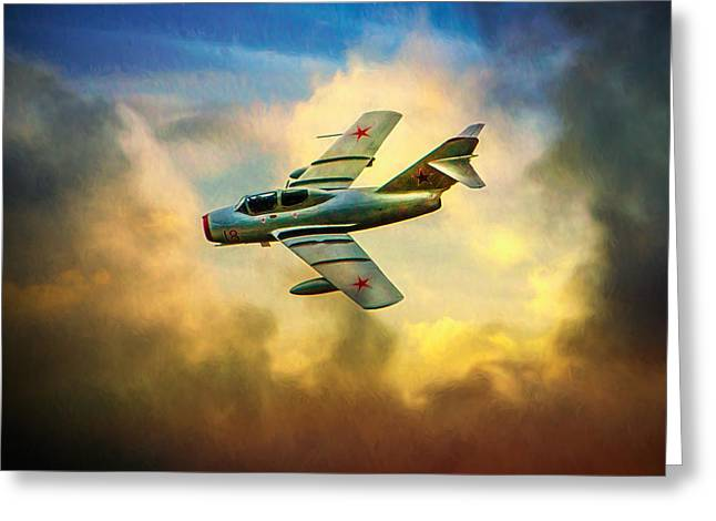 Greeting Card featuring the photograph Mikoyan-gurevich Mig-15uti by Chris Lord