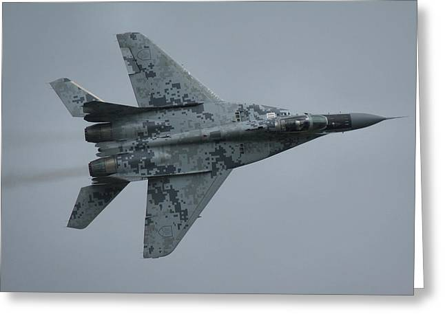 Mikoyan-gurevich Mig-29as  Greeting Card by Tim Beach