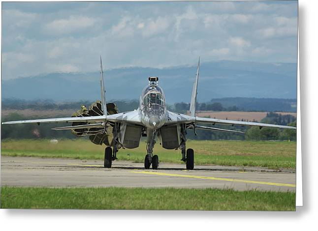 Mikoyan-gurevich Mig-29ubs Greeting Card by Tim Beach