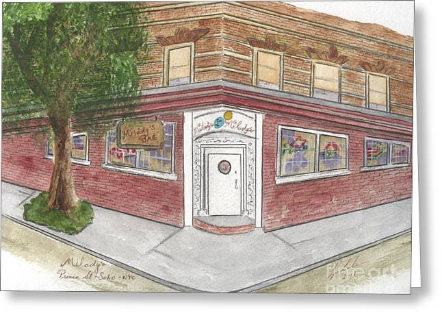 Milady's Bar In Soho Greeting Card
