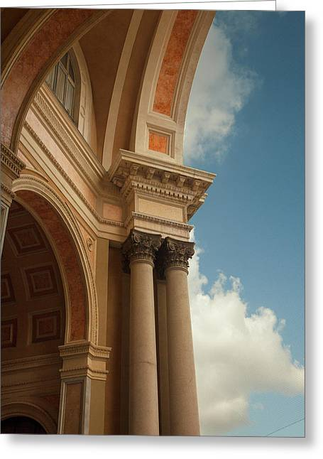 Milan Arches Greeting Card by Art Ferrier